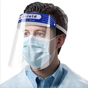 フェイスシールド 1枚 在庫あり 顔面保護マスク フェイスカバー Mask 透明マスク 曇り止め スプラッシュシールド 防塵 マスク 透明シールド 鼻 目を保護 顔面カバー 軽量 通気性 安全 簡単装