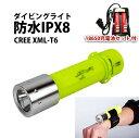 ダイビングライト XML-T6 18650リチウムイオン充電池2本 18650用充電器セット送料無料