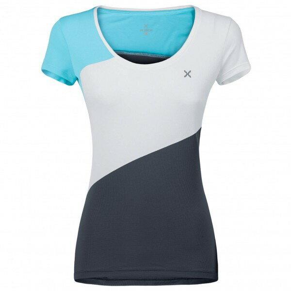 モンチュラ Outdoor Style Tシャツ レディース(Piombo / Ice Blue)