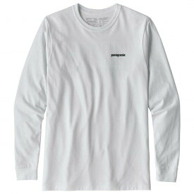パタゴニア L/S P-6 Logo Responsibili-Tee ロングスリーブ(White)