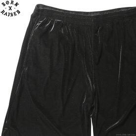 【BORN X RAISED】 ボーンアンドレイズド BORN X RAISED VELOUR SHORTS (BLACK) #32802 メンズ ボトムス パンツ ショート ブラック