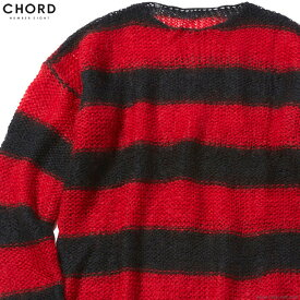 CHORD NUMBER EIGHT MOHAIR KNIT (BLACK×RED) [N8M1K1-KN01] コードナンバーエイト