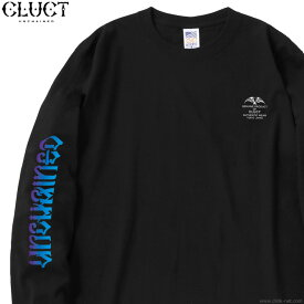 CLUCT UNCHAINED GRADATION L/S TEE (BLACK) #02995 クラクト 長袖Tシャツ