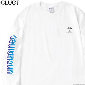 CLUCT UNCHAINED GRADATION L/S TEE (WHITE) #02995 クラクト 長袖Tシャツ