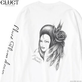 CLUCT L/S TEE BEAUTIFUL WOMAN (WHITE) #03041 クラクト 長袖Tシャツ