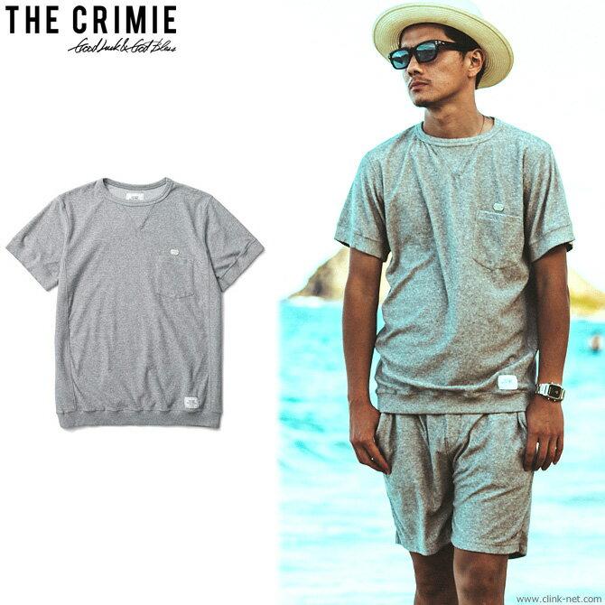 CRIMIE PILE CUT&SAW SHORT SLEEVE T-SHIRT (GRAY) [C1H3-CS09] クライミー