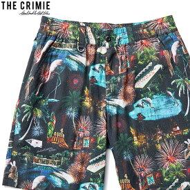 【予約/4月〜5月入荷予定】CRIMIE LAS VEGAS ALOHA SHORT (BLACK) [CR01-02L1-PS08]