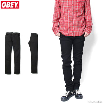Under OBEY JUVEE DENIM (BLACK) ★ collect on delivery fee ★ perfection for free ★ campaign!★