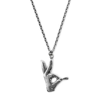 RADIALL SOCIAL KLUB NECKLACE (SILVER) ★ COD number of charge ★ fully free ★ campaign! ★