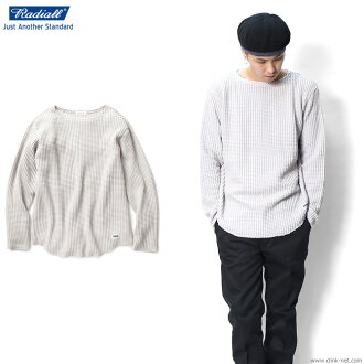 RADIALL BIG WAFFLE - BOAT NECK T-SHIRTS L/S (SNOW WHITE)