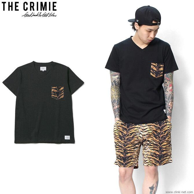 CRIMIE ORIGINAL TIGER ONE POINT POCKET T-SHIRT (BLACK) [C1G1-CS11] クライミー