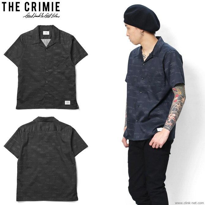 【CRIMIE/クライミー】CRIMIE ALOHA FONT SHIRT (BLACK) [C1G3-SH08]