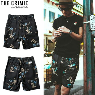 CRIMIE BOTANICAL and BEE ALOHA ROY SHORTS (BLACK) [C1H1-PT09]