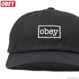SALE セール 50%OFF【OBEY】 オベイ OBEY OUTLINE 6 PANEL SNAPBACK (BLACK) メンズ ヘッドギア キャップ ブラック