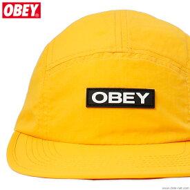 SALE セール 50%OFF【OBEY】 オベイ OBEY DEPOT 5 PANEL HAT (ENERGY YELLOW) メンズ ヘッドギア キャップ イエロー
