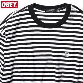OBEY 89 ICON STRIPE BOX TEE SS (BLACK MULTI) オベイ Tシャツ ボーダー