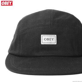 【OBEY】 オベイ OBEY IDEALS ORGANIC 5 PANEL HAT (BLACK) メンズ ヘッドギア キャップ ブラック