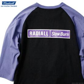 RADIALL SLOW BURN - CREW NECK T-SHIRT 3Q/S (BLACK) ラディアル ラグランTシャツ 7分袖