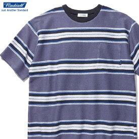 RADIALL CISCO - CREW NECK POCKET T-SHIRT S/S (PURPLE HAZE) ラディアル Tシャツ ボーダー