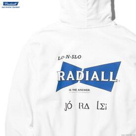 【RADIALL】 ラディアル RADIALL BOWTIE - HOODIE SWEATSHIRT L/S (WHITE) メンズ トップス スウェット パーカー プルオーバー ホワイト
