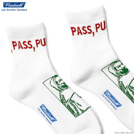 RADIALL 2PAC SOX - PASS MIDDLE (WHITE) ラディアル ソックス