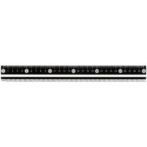 【1000円以上お買い上げで送料無料♪】RF 見やすい白黒定規 30cm ブラック APJ281B - メール便発送