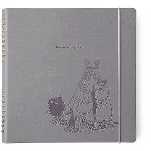 【送料無料】ハイタイド MOOMIN ムーミン ハウスキーピングブック 家計簿 ライトグレー かわいい おしゃれ キャラクター - メール便発送