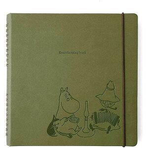 【送料無料】ハイタイド MOOMIN ムーミン ハウスキーピングブック 家計簿 カーキ かわいい おしゃれ キャラクター - メール便発送
