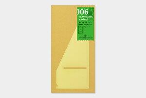 【1000円以上お買い上げで送料無料♪】【TRAVELER'S notebook】トラベラーズノート リフィル レギュラーサイズ 006 ポケットシールL - メール便発送