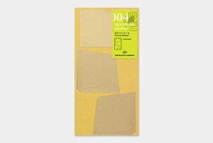 ※1000円以上 送料無料 【TRAVELER'S notebook】トラベラーズノート リフィル レギュラーサイズ 004 ポケットシール - メール便発送