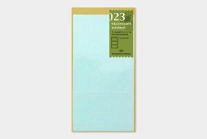 【1000円以上お買い上げで送料無料♪】【TRAVELER'S notebook】トラベラーズノート リフィル 023 フィルムポケットシール - メール便発送