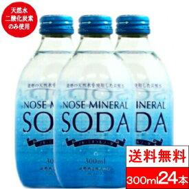 【1ケース】【送料無料】能勢ミネラルソーダ 炭酸水(瓶)300ml×24本