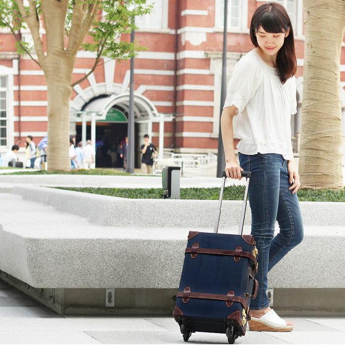 上品で大人かわいいトランク型キャリーケース!機内持ち込み可能サイズで帰省や国内旅行・海外旅行バッグにぴったり♪アリゼ【Sサイズ】