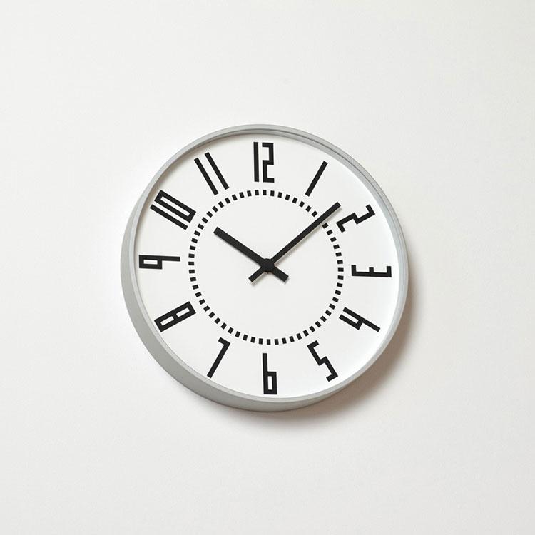 【送料無料】掛け時計 eki clock[エキ クロック] Lemnos[レムノス] TIL16-01【スイープムーブメント スイープセコンド 壁掛け時計 時計 壁掛け ウォールクロック 駅 ビンテージ 北欧 テイスト デザイナーズ 五十嵐威暢 かわいい おしゃれ インテリア 新築 出産】