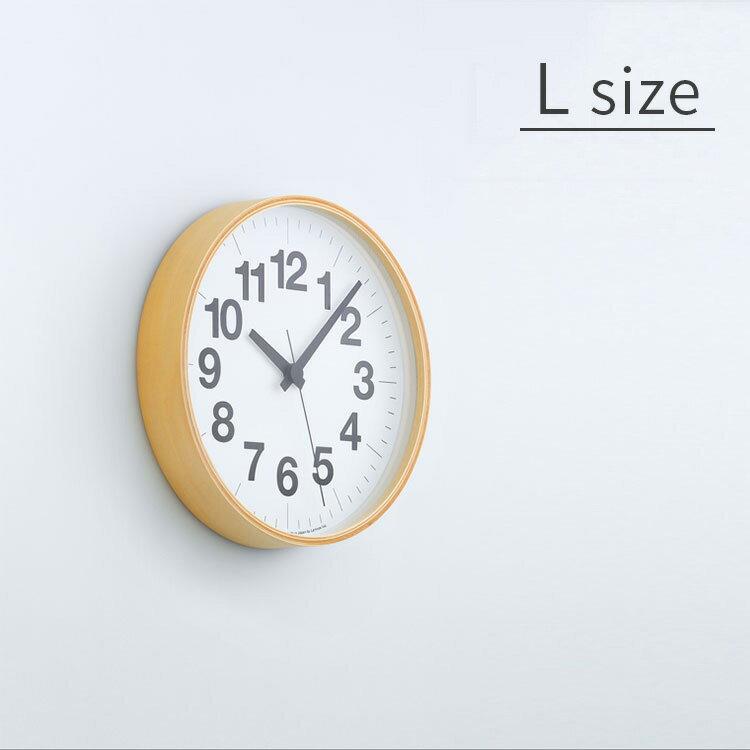 【送料無料】掛け時計 ナンバーの時計 Lサイズ Lemnos[レムノス] YK16-03 L【スイープムーブメント スイープセコンド 壁掛け時計 時計 壁掛け プライウッド ビンテージ ナチュラル 北欧 テイスト デザイナーズ かわいい おしゃれ インテリア 木製 新築 出産】