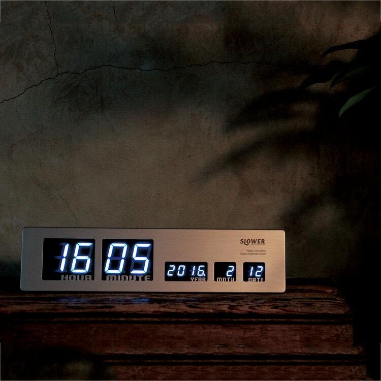 【ポイント10倍】LED CLOCK アスカリ Ascari【掛け時計 置時計・掛け時計 壁掛け時計 デジタル時計 置き時計 カレンダー 木 ゴールド LED シンプル 壁掛け電波時計 おしゃれ モダン メンズ 卓上 インテリア プレゼント ウォールクロック】