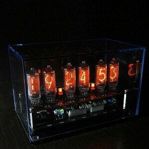 【メーカー直送品】ニキシー管 時計 ME-1L(IN-8-2)【ニキシー管時計 LED 置き時計 アンティーク おすすめ 時計 置時計 真空管 テイスト かわいい 可愛い プレゼント 男前 ギフト 雑貨 おしゃれ レ