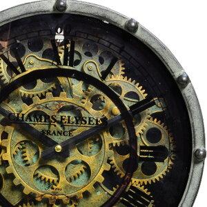 【送料無料】置き時計ロータリングギアクロック[ROTORRINGGEARCLOCK]Aタイプ【置時計置き時計おしゃれスチームパンク歯車動く時計インテリアアイアンスチールレトロビンテージ置時計ヴィンテージ男性】10P09Jul16