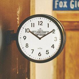 【ポイント10倍】時計 掛け置き時計 ロベストン CL-2138【インターフォルム interform 壁掛け時計 アナログ クロック ダブルフェイス 両面時計 西海岸 ブルックリン インテリア 雑貨 シンプル おしゃれ デザイン 新築祝い ギフト プレゼント ウォールクロック 結婚祝い】