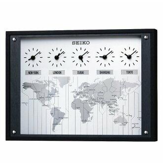500日元优惠券利用可的★墙壁装饰吊钩优惠有★挂钟座钟精工[SEIKO]世界时钟KX612K