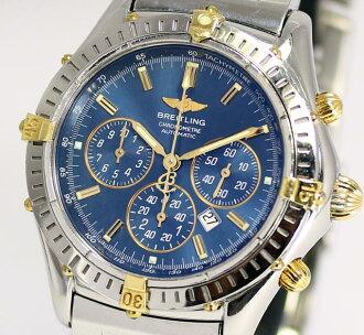 BRIGHT环影子倒转计时仪B35312蓝色表盘胳膊周围约18.5cm对应自动卷人手表