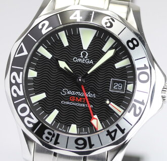 It is with self-winding watch men watch / box of the 50th anniversary of omega Cima star 300 GMT 2234.50, a warranty
