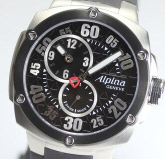 美品☆arupinaabaranchiregyuretaekusutorimu AL650X3AE4/6自动卷橡胶皮带箱子保证字条人手表