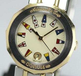 正规的物品☆korumuadomiraruzukappu 39.610.21 V052 K18YG搭挡纯正代理人保证字条胳膊周围约15.5cm QZ女士手表