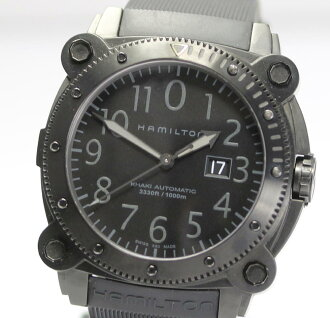 PD151006 with Hamilton khaki below zero H785850 PVD black coating self-winding watch men watch / box, the warranty