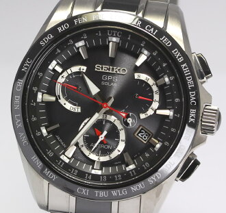 PD160107 with SEIKO ass Tron SBXB041 8X53-0AB0-2 titanium X ceramic solar GPS men watch / box, the warranty