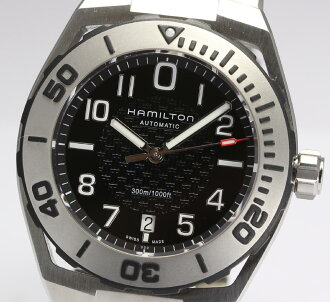 With Hamilton khaki navy subauto H78615135 SS breath self-winding watch men watch box, warranty, rest piece
