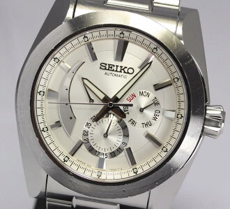 With セイコーブライツアナンタメカニカル SAEC005 6R21-00C0 power reservation SS breath self-winding watch men watch box, warranty, rest piece