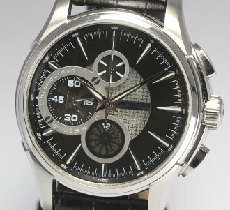 Hamilton jazz master chronograph H327560 SS X pure leather belt self-winding watch men watch box, guarantee memo