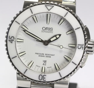 With cages Aquis lye chair date 01 733 7653 4156-07 8 26 01PEB SS breath self-winding watch men watch box, guarantee card